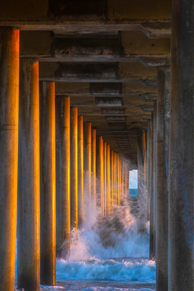 Cascading Tide Over Golden Pylons  5-19