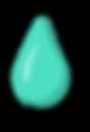 Goutte de couleur verte