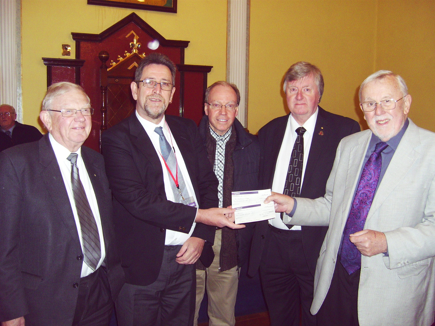 Blues Brothers Cheque  Presentation