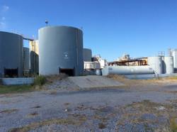 Back Side of Storage Tanks