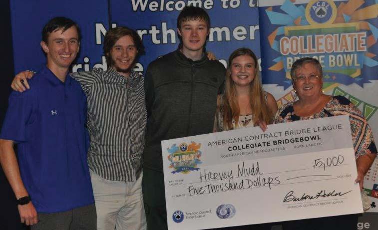 Third in the Collegiate Bridge Bowl: Harvey Mudd College