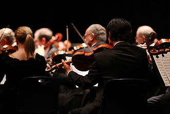 An orchestra playing