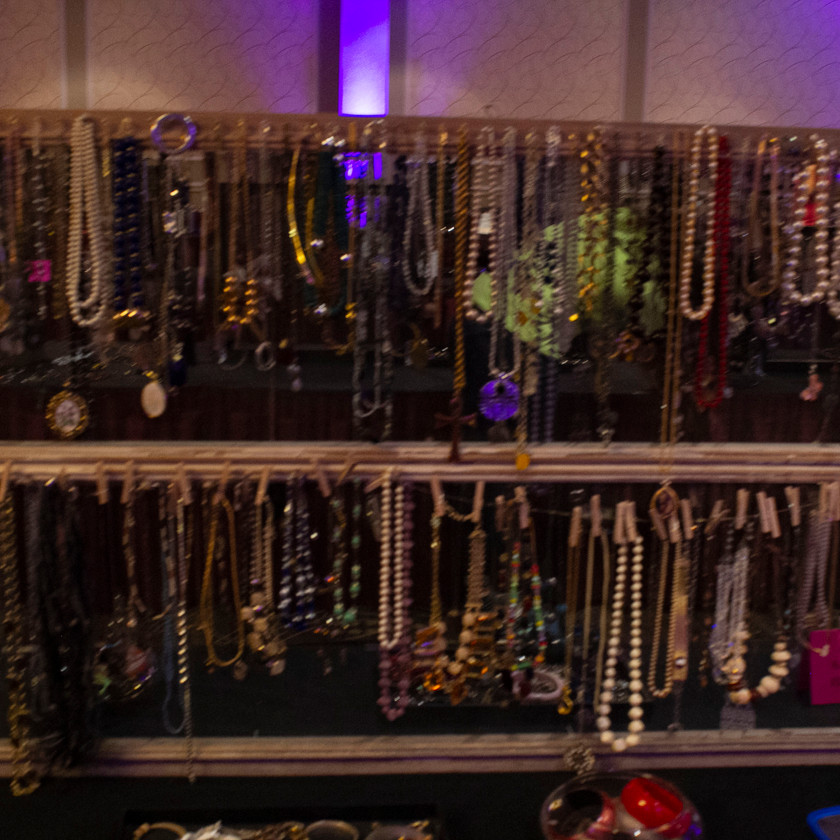 Selection of necklaces displayed at The Access Jewelry Box Event