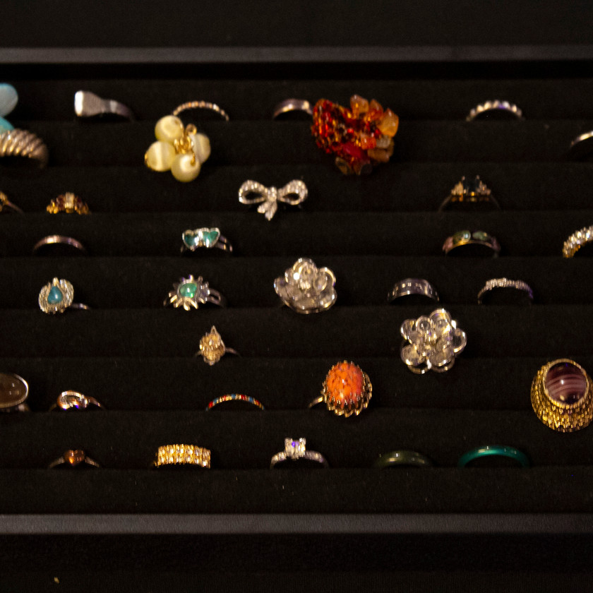 Selection of rings at the Access Jewelry Box event