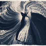 2018 Size: 40x60 in. (101.6 x 152.4 cm.) This printing technique is a cyanotype darkroom effect brushed with a red or orange coat on a cool tone base. We are so excited about this paper which is unsurpassed hand-crafted prints using proven, bespoke techniques and superior-quality materials, this paper is also sustainable yet archival made with a bamboo base to create a smooth deep matte finish.  Please contact gallery for price.