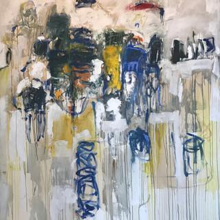 "106"" x 68""  Oil on Canvas"