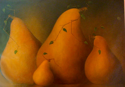 Pear Family with Leaves