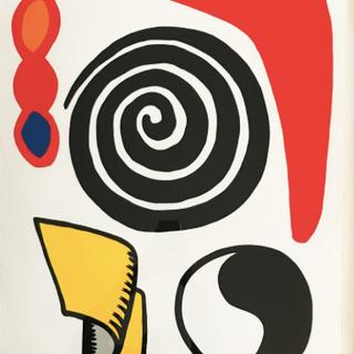 Ying Yang, spiral and red boomerang