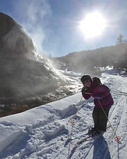 Cross Country ski in Mammoth Hot Springs, Yellowstone