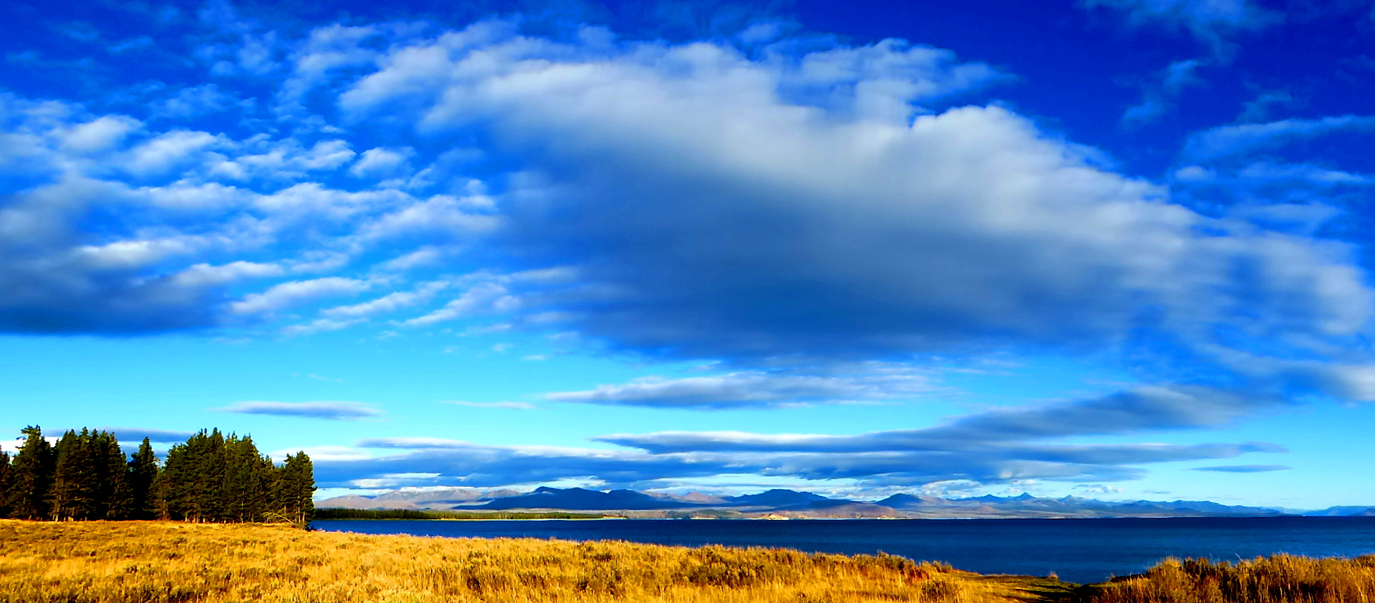 Yellowstone Lake under Big Sky Country