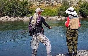Fly fishing instruction in Yellowstone