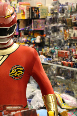 Life Size Power Ranger, Vintage Toy Store