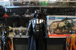 Vader with Star Wars Case Vinyl Record Store