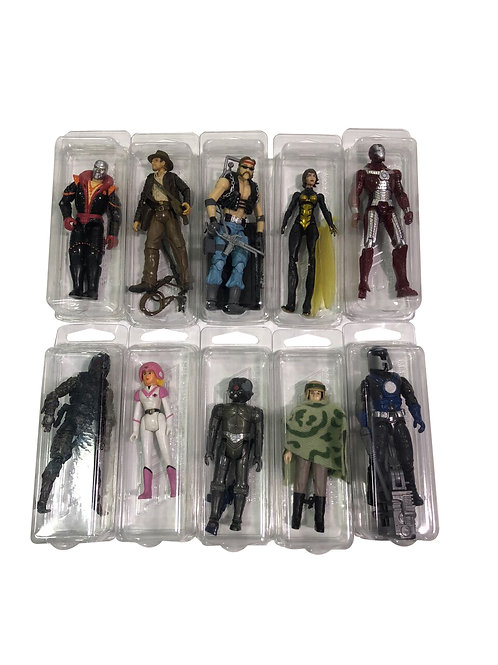 "10 Pack of Hard Plastic Protector Cases for Loose 3 3/4""Figures"