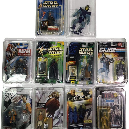 "Elite SW-1 Figure Protectors for Most Carded 3.75"" Action Figures 10 Pack"