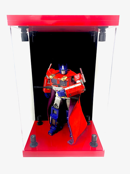 """E-01.5 Gloss Red 8 LED Lighted 16"""" Figure Display Case"""