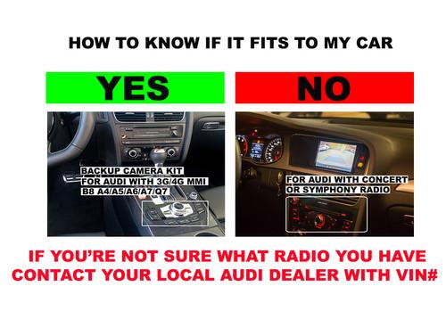 Audi with MMI 3G/3G+ Rear View Camera Backup Camera Interface Kit |  carsgadget