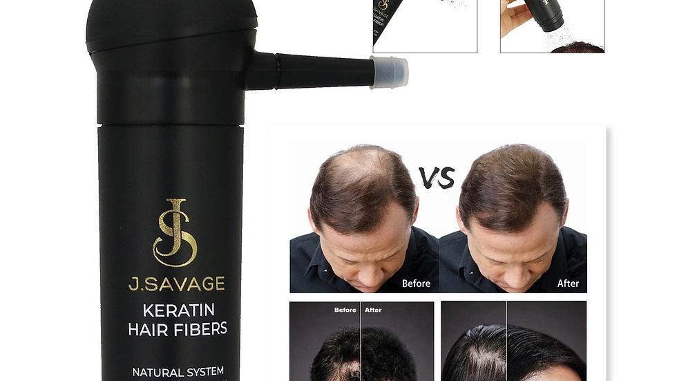 Keratin hair fibers