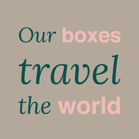 AboutaBox Delivery Our boxes travels the world