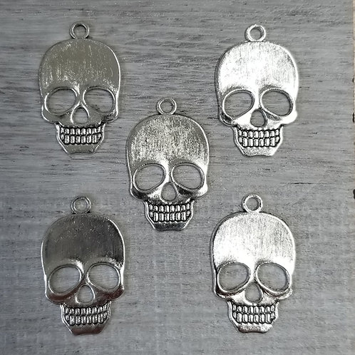 Large Skull Charms (5)