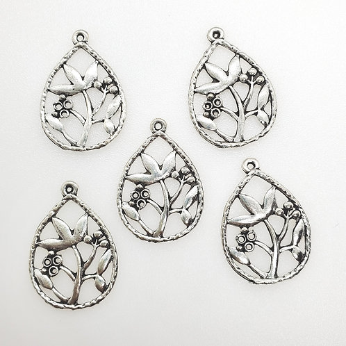 Flower Drop Charms (5)
