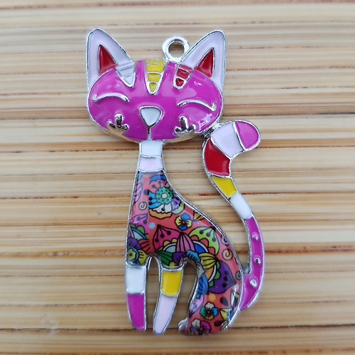 Cat Enamel Charm