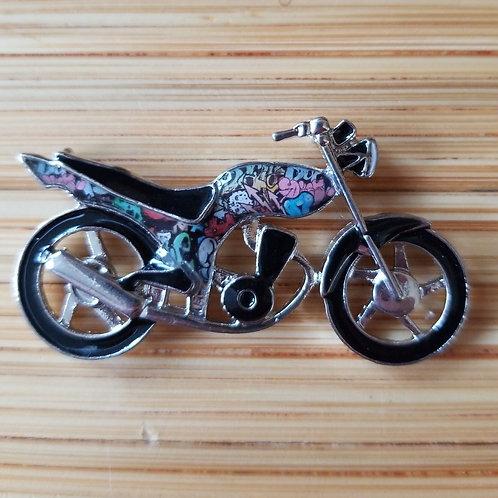 Motorcycle Enamel Charm