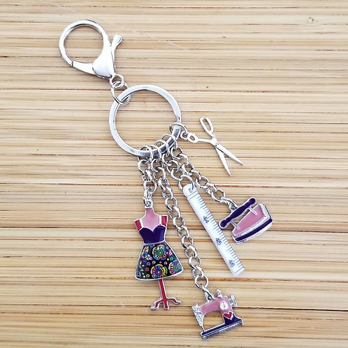 Sewing Theme Key Chains