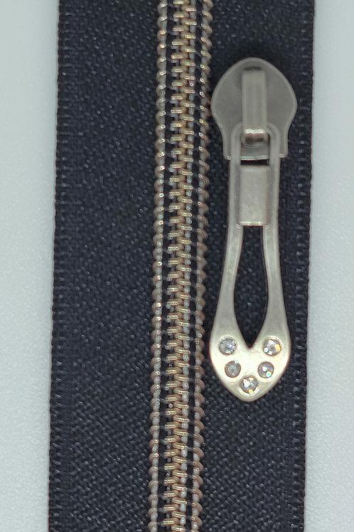 Antique Silver #5 Nylon Zipper Tape