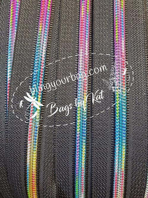 Double Rainbow Nylon Zipper Tape