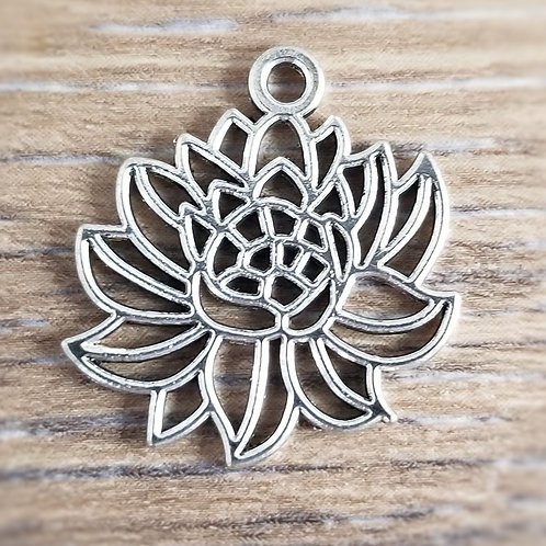 Antique Silver Lotus