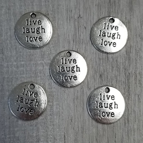 Live Laugh Love  Charms (5)
