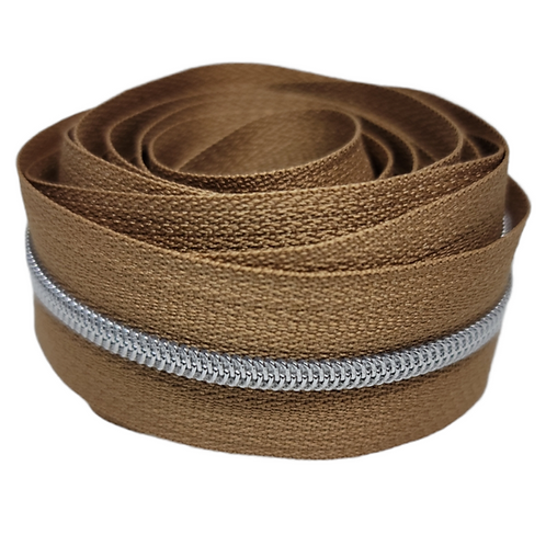 Medium Brown #3 Nylon Zipper Tape