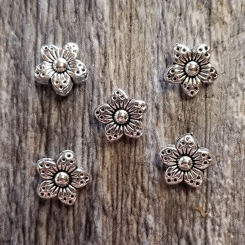 Tiny Flower Spacer Charm (10)