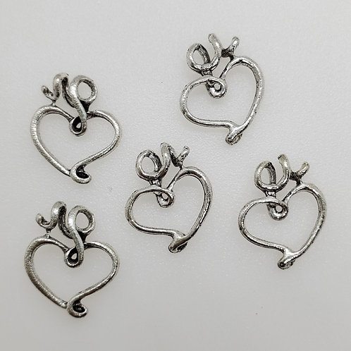 Loopy Heart Charms (5)