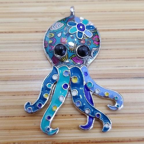 Octopus Enamel Charm