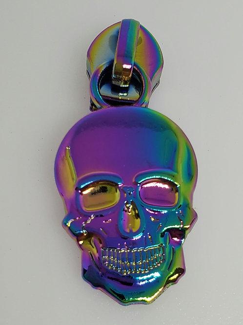 Skull #5 Zipper Pull