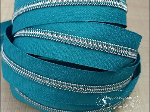 Teal Blue #3 Nylon Zipper Tape