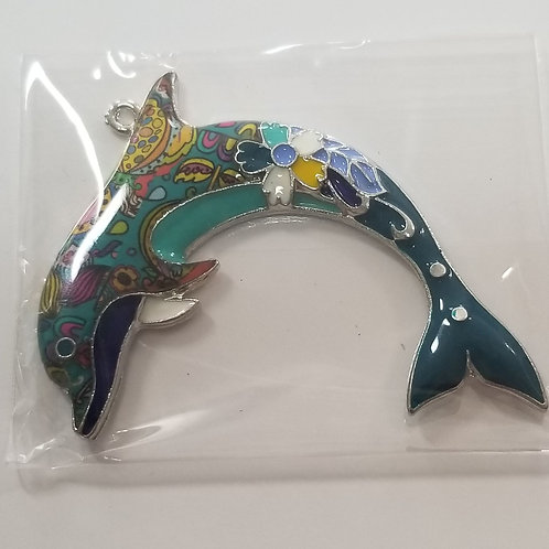 Dolphin Enamel Charm