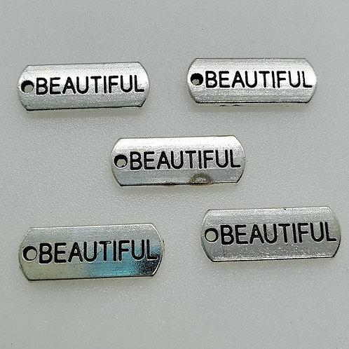 Beautiful Word Charm (5)