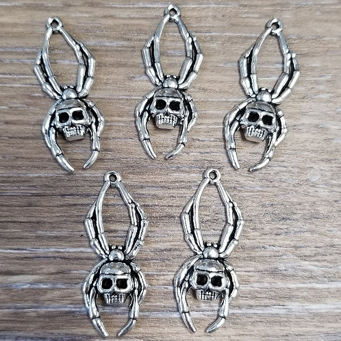 Spider Skull Charms (5)