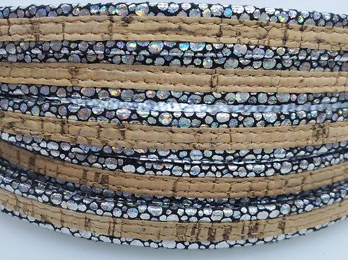 Silver Speckle Cork Strap