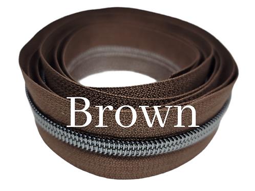 Brown #5 Nylon Zipper