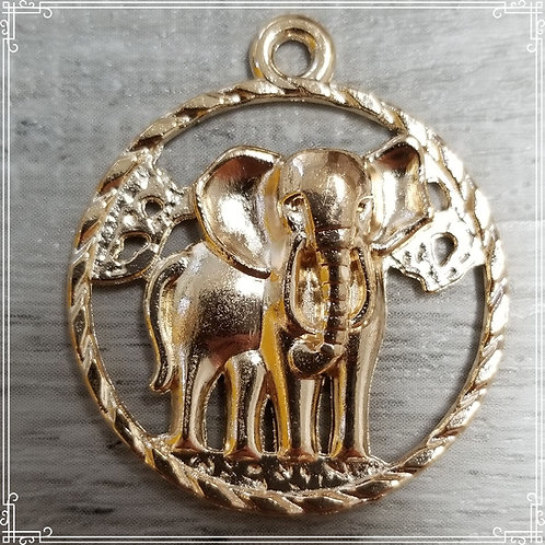 Round Elephant Charms (5)
