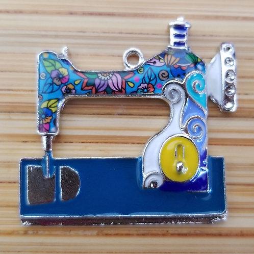 Sewing Machine Enamel Charm