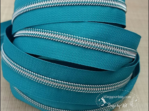 Teal Blue #5 Nylon Zipper Tape