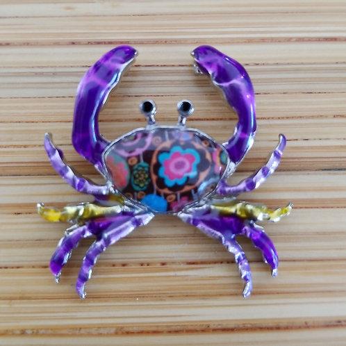 Crab Enamel Charm