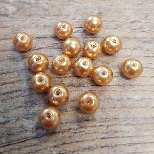 Golden Brown Glass Beads