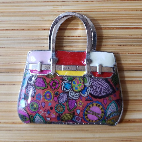 Purse Enamel Charm