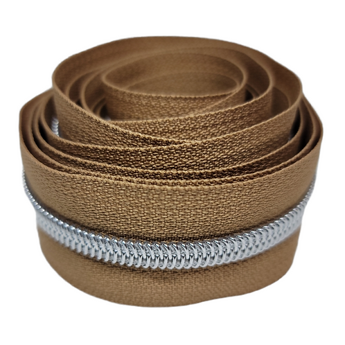 Medium Brown #5 Nylon Zipper Tape